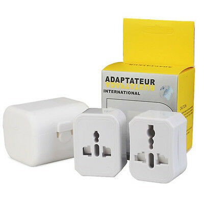 Travel Adapter Plug Charger Set Wall AC Power Detachable Plug  EU AU UK US 2PCs