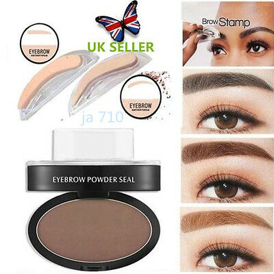 NEW Eyebrow Shadow Definition Makeup Brow Stamp Powder Palette Natural UK STOCK