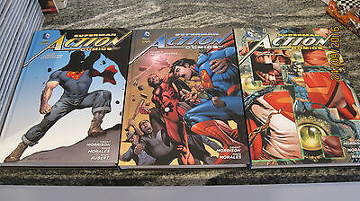 SUPERMAN ACTION COMICS NEW 52 LIMITED di MORRISON 1-2-3 CARTONATO LION