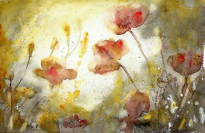 "°♡Original Aquarell, Watercolor,Flowers,Sommer""Mohnblumen♡"