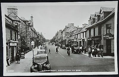 Old Real Photo Postcard - High Street, Grantown On Spey, Moray, Scotland