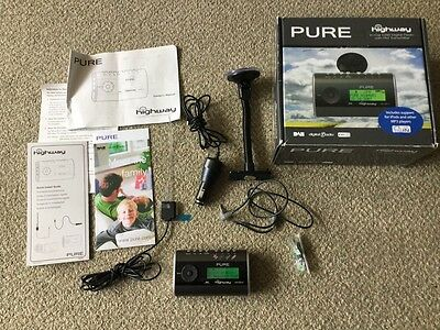 Pure Highway DAB Digital FM Transmitter  Radio Mount Charger Manual Boxed (m2)