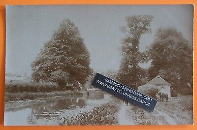 RP Postcard c.1910 ON THE CANAL HUNGERFORD BERKSHIRE