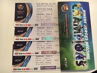 Champions Trophy -1st Semi-Final -Probably England VS Pakistan - 4x Tickets