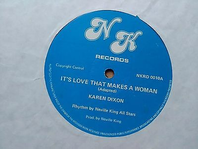 "Karen Dixon / Errol Robinso ‎– It's Love That Makes A Woman 12"" REGGAE"