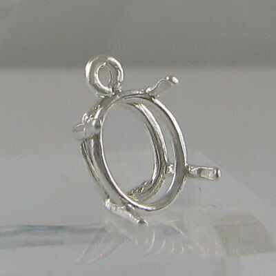 Prenotched 11X9 Oval Dangle Earring Setting Cast In Sterling Silver Cb11X9Ovss