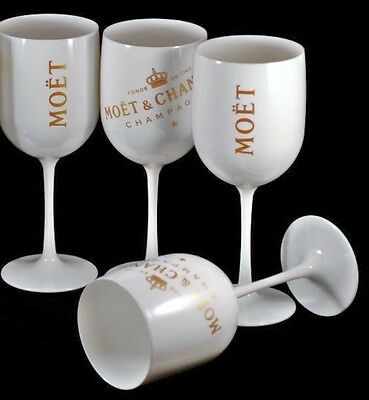 Moet Chandon Ice Imperial Champagne Glasses X4 Unboxed New Design 2017 Brand New