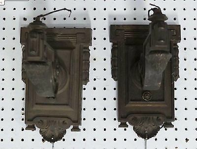 Antique Lot Wall Sconces New York Salvage Refurbish Set 2 Huge Architectural