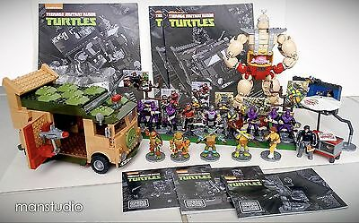 MEGA BLOKS TMNT Teenage Mutant Ninja Turtles Collectors Wagon Shredder Krang LOT