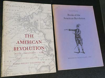 TWO catalogs of Rare Books & Documents on the American Revolutionary War History