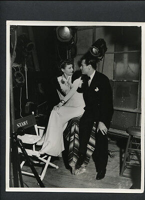 Barbara Stanwyck + Henry Fonda Candid - 1941 On Set Between Takes - By Lippman