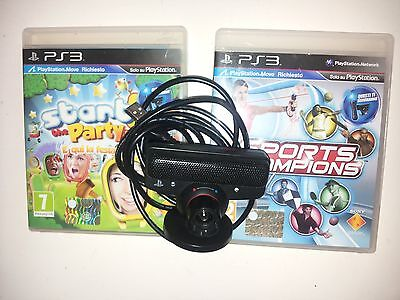 Start the Party + Sport Champions + camera cam Sony +  Playstation 3 PS3 move