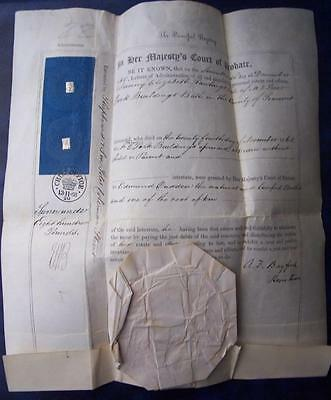 Probate Document  - 1868 Park Buildings Bath - Ephemera