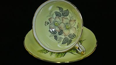 Vintage Royal Victorian Fine Bone China Tea Cup and Saucer with Gold Trimming