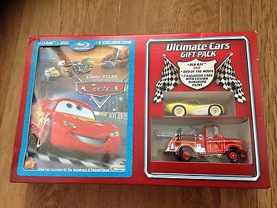 Disney Pixar Cars Blu-ray Ultimate Cars Gift Pack - diecast McQueen and Mater