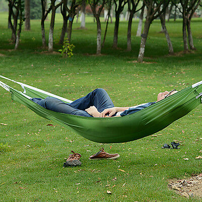 Portable Nylon Hammock Parachute Bed for 1 Person Travel Camping Outdoor BR