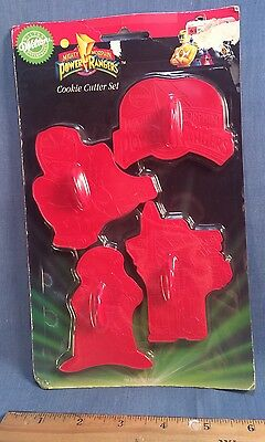 Vintage 1994 Wilton Mighty Morphin Power Rangers MMPR Cookie Cutter Set