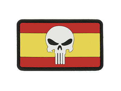 Flag Skull PVC morale patch España Spain airsoft Punisher