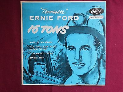 Ernie Ford 16 Tons River Of No Return Marilyn Monroe Capitol 1958  Eap 1-693