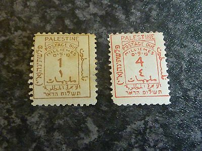 Palestine Postage Due Stamps Sgd1 & D3 Mm