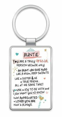 Inspired Words Keyring - Auntie