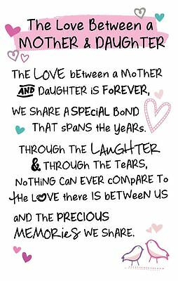 Inspired Words Keepsakes - The Love Between A Mother And Daughter