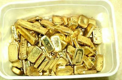 1000g gold recovery gold bar Melted Drop Scrap plated Recovered cpu NEW