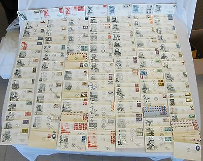 133 Lot First Day Covers FDCs 1960 1961 1962 Cachet Collection Envelopes Stamps