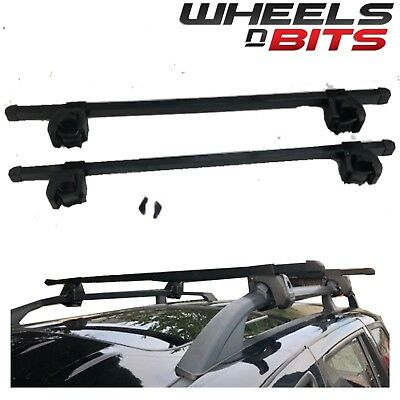 Universal Roof Rack Rail Bars Up To 135Cm 60Kg Load Car Suv With Factory Rails