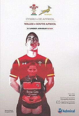 * WALES v SOUTH AFRICA - INTERNATIONAL RUGBY PROGRAMME (26th November 2016) *