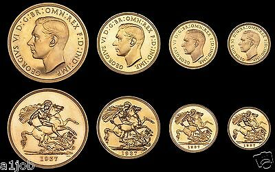 1937 King George Vi Proof Gold  Sovereign Coin Set