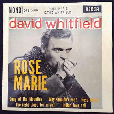 DAVID WHITFIELD: ROSE MARIE 1961 Decca EP DFE6669 with Janet Waters