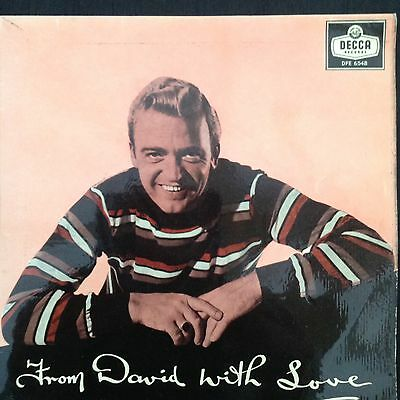 """DAVID WHITFIELD: FROM DAVID WITH LOVE 1958 Decca 7"""" EP DFE6548"""
