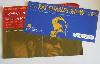 Japan Universal Orient + Abc Record – Ray Charles Show 1970 - Program + Ticket