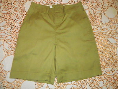 VTG 1960's - 70's OLIVE GREEN BOY SCOUTS of AMERICA UNIFORM SHORTS SIZE 27