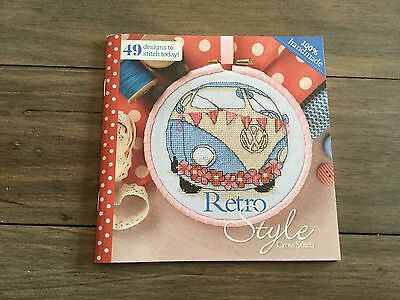 Retro Style counted cross stitch chart booklet 49 designs - new