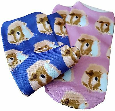 Guinea Pig Faces Sock Set by the Crazy Guinea Pig Lady Two Pair Total
