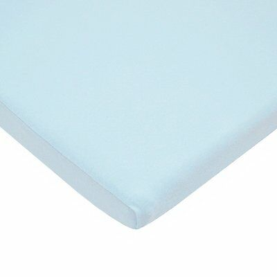 American Baby 100% Cotton Value Jersey Knit Bassinet Sheet Blue, New 3552