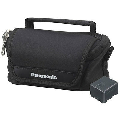 NEW Genuine Panasonic HD Camcorder Accessory Kit VW-VBN130 Battery + Case