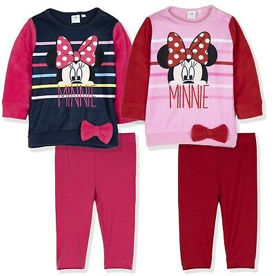 48a44f174 Disney Minnie Mouse Baby Girls Warm Outfit Clothes Set Top Leggings 3-24  Months