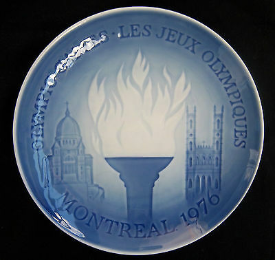 Orig.porcelaine plate   Olympic Games MONTREAL 1976 - Special Edt  !!  VERY RARE