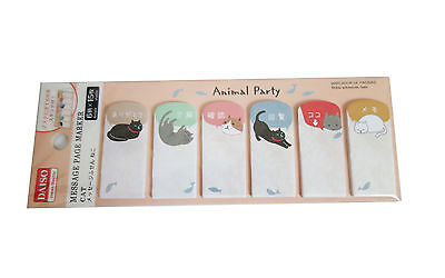 Daiso Japan Animals Cat Sticker Post-it Bookmark Sticky Memo Flags Index Tab x2