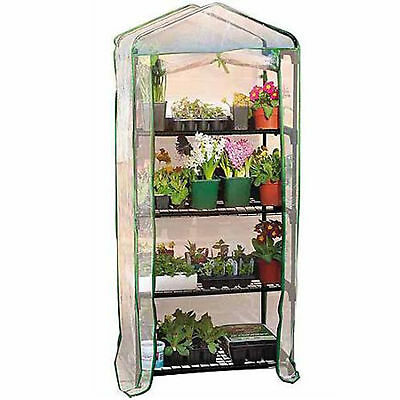 4 Tier Garden Mini Greenhouse Portable for use Indoor Outdoor Garden & PVC Cover