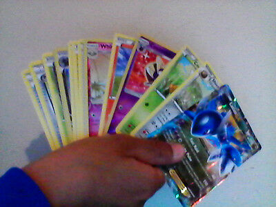 pokemon card bundle 15x 10 common  cards, 3 shinys,1 holo and 1 ex