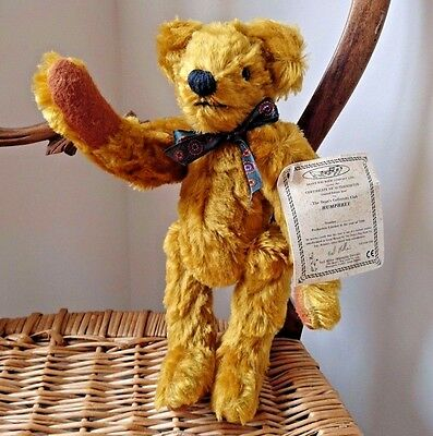 Dean's Rag Book Collectors Club Jointed Classic Bear Humphrey 1996 Golden - 3576