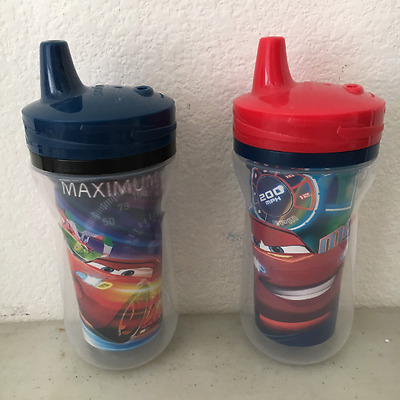 The First Years 2 Pack 9 Ounce Insulated Sippy Cup, Cars/Pattern