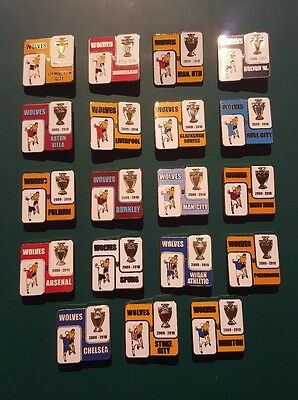 Wolves 2009/10 Premiership Season Full Set Of Match Day Badges