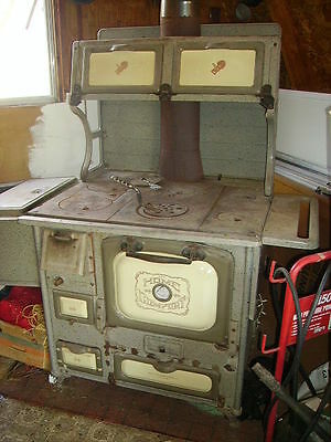 Antique Home Comfort Cookstove Gray Enamel Wood Cook Stove/farmhouse Stove