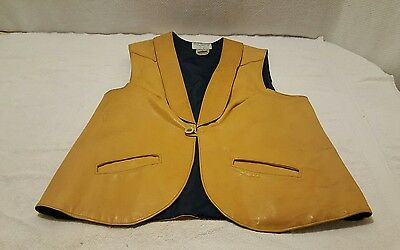 Vintage ~ ROCKY MOUNTAIN FEATHERBED ~ Leather Vest Jackson Hole WY ~ Very Nice!!