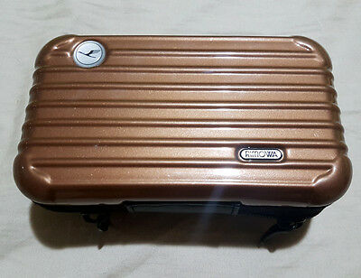 Rimowa amenity Kit for LUFTHANSA Airline First Class Brown Case Only + Gifts